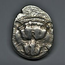 RARE SILVER 1/3 STATER, DYNASTS OF LYCIA: TRBBENIMI. LIONS SCALP. 390-370 BC E.F