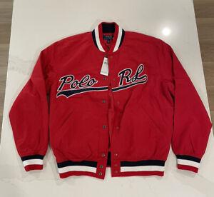 Polo Ralph Lauren Baseball Bomber Varsity Jacket Snap On Men's large $398 New!
