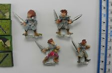 4 WITCH ELVES Metal MM70 Dark Elf Aelf Aelves Army Marauder Warhammer 1980s PE2