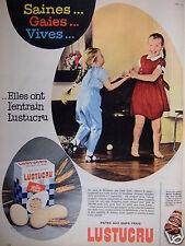 PUBLICITÉ 1961 LUSTUCRU SAUCE ET PATES AUX OEUFS FRAIS - ADVERTISING