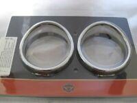 Harley Davidson Zusatzscheinwerfer  Zierringe mit Schirm Chrom 69732-05