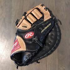 New listing Rawlings Renegade R115FB Baseball First Base Mitt Glove Black Leather RHT