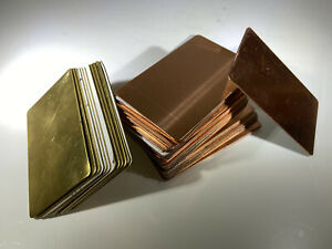 CLEARANCE JOB LOT Copper / Brass BLANK Business Cards Metal Cards 0.9mm SECONDS