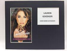 RARE Lauren Goodger Towie Signed Photo Display + COA AUTOGRAPH ESSEX