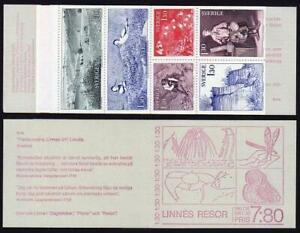 Sweden 1242-1247a booklet,MNH.Travels of Carl von Linne botanist,Avocets.1978