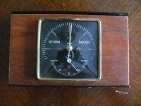rarität über 50 Jahre alter Barometer mit Thermometer der Fa. Toff  Teakholz