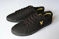 Lyle & Scott Mens Shoes Black Pumps Gold Eagle Trainers Kicks Lace up Sz. 8 UK