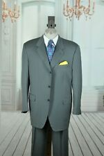 Canali Men's Luxury Solid Shark Gray All Season Wool Suit 44L 44 L