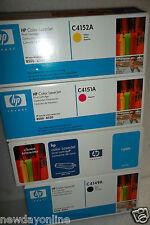 LOT of 4 HP Toner Cartridges C4149A C4150A C4151A C4152A B/C/M/Y 8500 8550 NEW