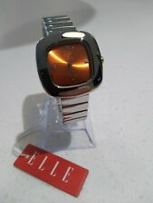 Elle Girl Watch Stainless Steel Orange Dial