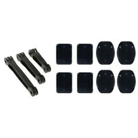 68+88+108mm Helmet Extension Arm for GoPro Case Mount Adapter + 8x Adhesive