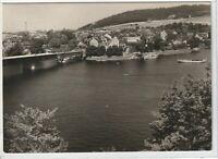 Ansichtskarte Saalburg - Partie am Stausee der Bleilochtalsperre - schwarz/weiß
