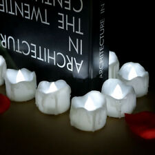 Flameless Votive Candles Flickering LED Tea Light Cool White Battery Operated