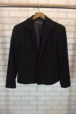 Lafayette 148 New York Womens Petite Blazer Jacket Black Size 8 Coat 100% Wool