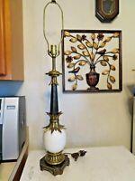 Vintage Stiffel Hollywood Regency Ostrich Egg modern mid century lamp