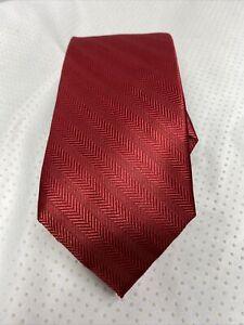 Tommy Hilfiger 100% Silk Red Tie NWT