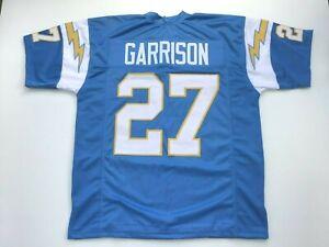 UNSIGNED CUSTOM Sewn Stitched Gary Garrison Blue Jersey  M, L, XL, 2XL