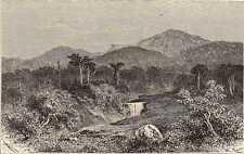 Antique print top Talang Sumatra batavia  VOC 1881