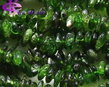 Natural Genuine Green Chrome Diopside Chip Nugget Free Form Loose Beads 3x8mm