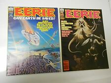 1980 EERIE #110 VF+ 111 VF Horror Magazine PAUL GULACY Pablo Marcos LOT of 2