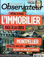 LE NOUVEL OBSERVATEUR N°2494 23 AOUT 2012  SPECIAL IMMOBILIER/ CASTA