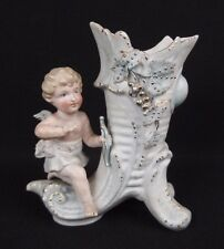 ancien petit sujet personnage biscuit / porcelaine 1900 ange putto cupidon