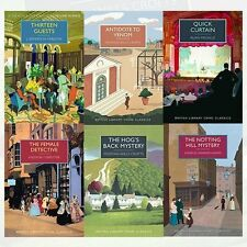 British Library Crime Classics Series 3 Collection 6 Books Set Thirteen Guests