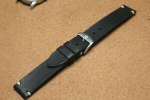 Handmade 18mm 20 мм 22мм WATCH STRAP GENUINE LEATHER BAND black watch