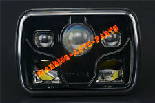 "7x6"" Projector LED Headlight Sealed Beam Headlamp Rectangular Black Housing x1"