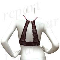 New women's lace racerback bralette bra wine burgundy S M L XL