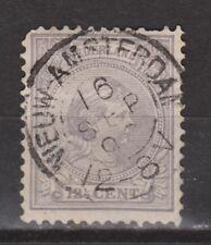 NVPH Netherlands Nederland 38 TOP CANCEL NIEUW-AMSTERDAM Wilhelmina 1893