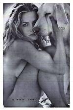 PINUP POSTER~Elizabeth Shue Nude W/Dog Elisabeth Leaving Las Vegas Era 23x35~NOS