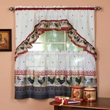 French Country Cafe Tier Curtains For Sale