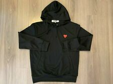 Comme des Garcons CDG Play Pullover Heart Hoodie Black sz XL