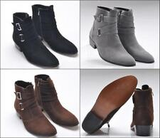 Fashion  Hot  Men's ankle chukka Casual boots suede Zipper buckle Dressy shoes