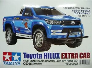 Tamiya (58663) 1:10 Toyota Hilux Extra Cab (CC-01 chassis) Shaft Driven 4WD