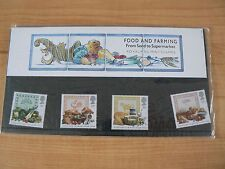 4 Royal Mail Mint Stamps Food and Farming  pack no.197