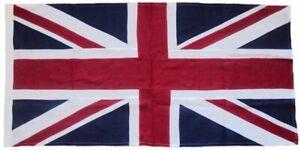 Union Jack flag linen cloth traditional sewn decorative rope toggled UK sizes gb