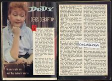 1958 TV ARTICLE~DODY GOODMAN~COMEDIANE~COMEDY on the TONIGHT SHOW