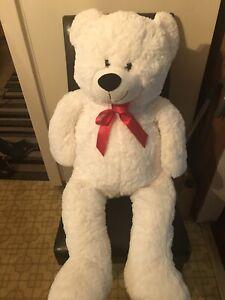 Giant White Teddy Bear Big Huge Kids Stuffed Animal LARGE Soft Plush Toy