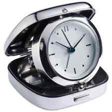 Eleganter Reisewecker / Uhr / Wecker in verchromtem Metallgehäuse -NEU-
