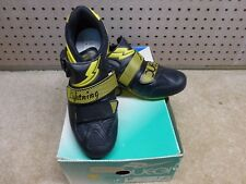"""Vintage 1990's - Nos - Duegi """"Lightning"""" - Leather/ Mesh Cycling Shoes - Size 38"""