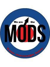 """Personalised We are the MODS  7.5"""" Edible Wafer Paper Cake Topper birthday"""