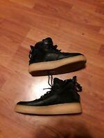 Nike SF Air Force 1 Mid Youth Basketball Shoe Black/Tan AJ0424-001  Size 6Y