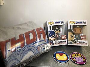 Marvel Corps Endgame Captain America Funko Pop #481 - Valkyrie #483 - XS