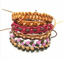Leather Braided  Bracelets, Set of 3, Plaited Duo Coloured, Boys, Mens Bracelets