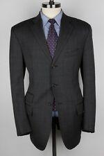 POLO RALPH LAUREN Blue Label Grey Windowpane Plaid Wool 42 L Mens Sport Coat