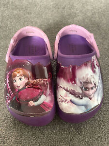 Disney Frozen Elsa Anna Crocs Clog With Lights Size C8