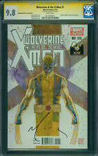 WOLVERINE & THE X-MEN #1 SS, WW St. Louis Ed., David Mack Signed, CGC 9.8, White
