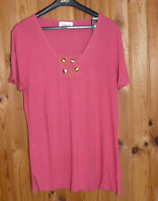 T-shirt / haut manches courtes rose «Afibel» taille 42/44